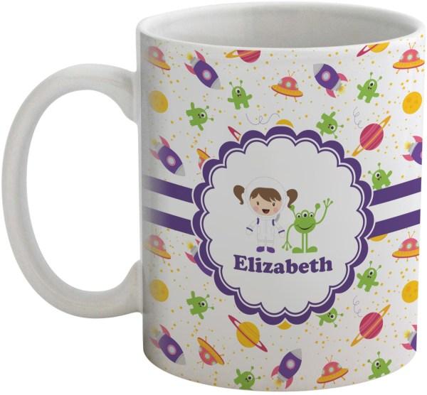 Girls Space Themed Coffee Mug (Personalized) - YouCustomizeIt