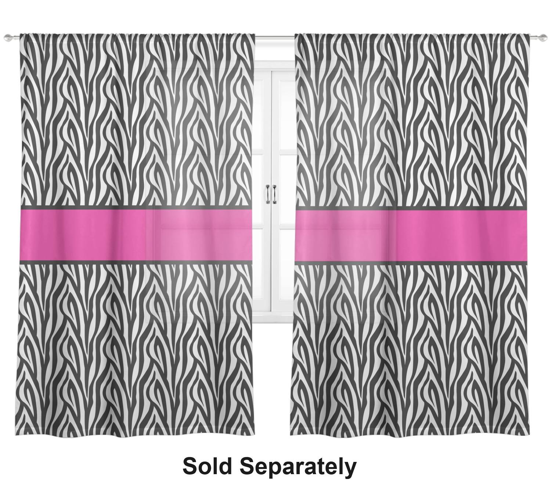 Zebra Print Window Sheer Scarf Valance Personalized