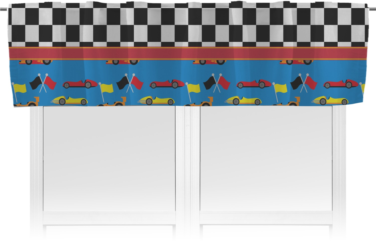 Racing Car Valance Personalized