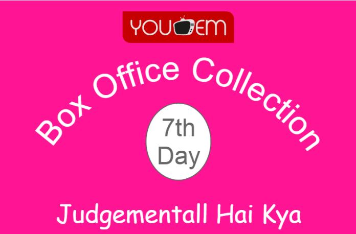 Judgementall Hai Kya 7th Day Box Office Collection