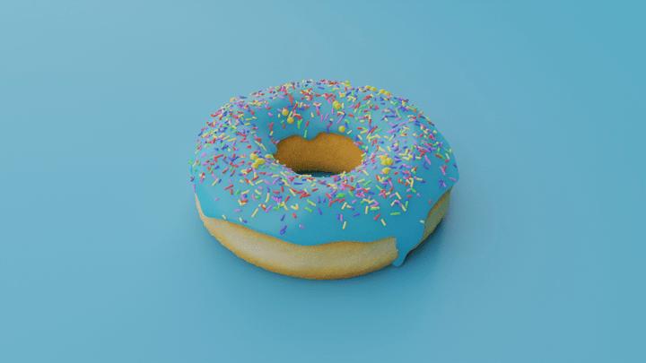 donut 3d image