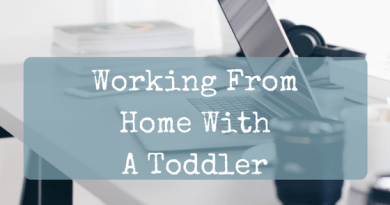 Office joys - working from home with a toddler