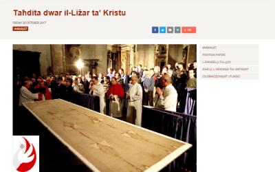 Sindone: articolo sul sito della Diocesi