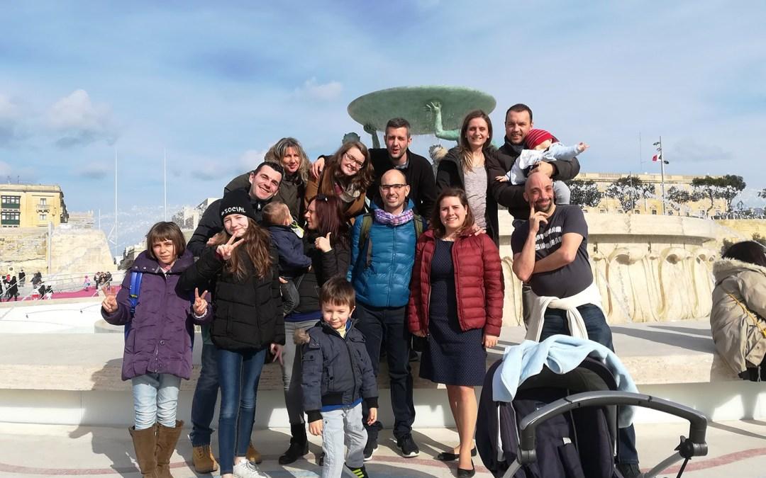 """Le famiglie della Comunità Abramo a Malta per la missione """"L'Amore più Grande"""""""