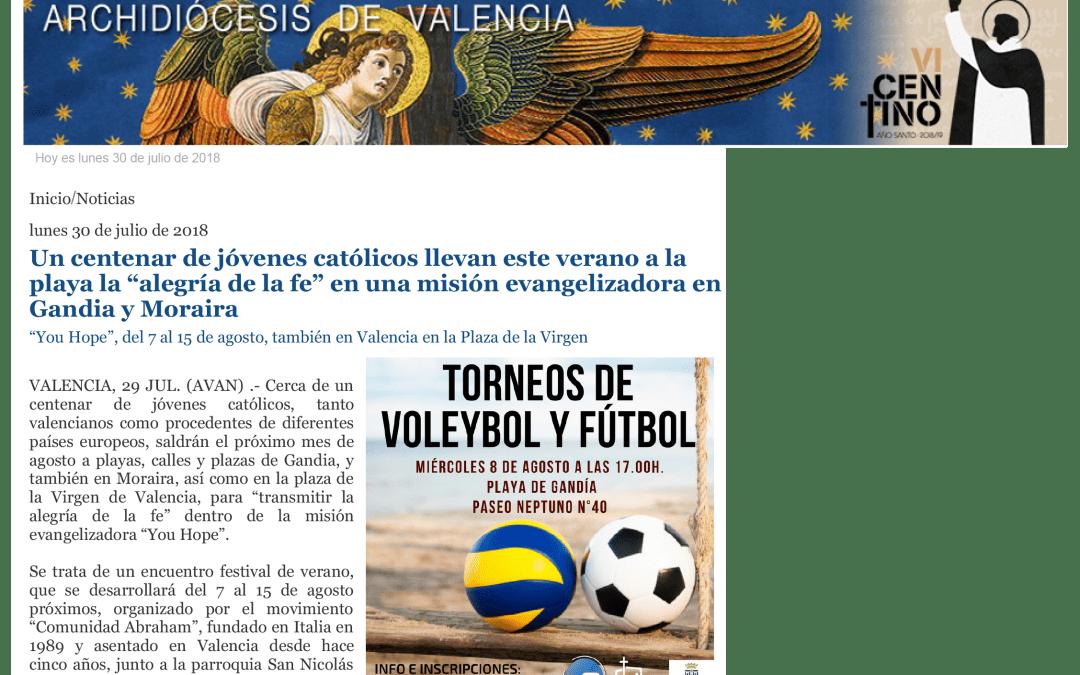 Festival dei Giovani a Valencia – Gandia! Leggi l'articolo