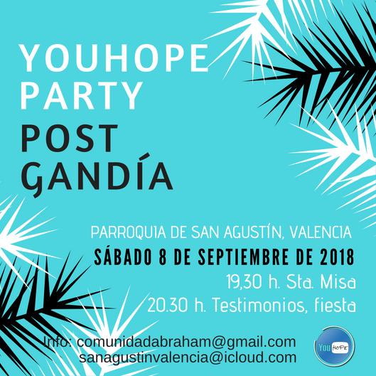 Y está por llegar ¡¡¡YouHope Party post Gandía!!!