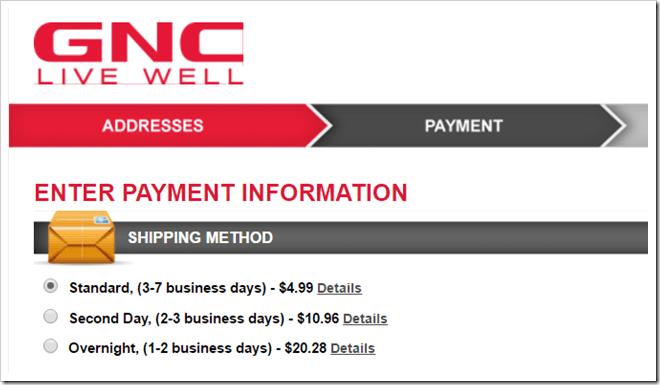 GNC Shipping Method