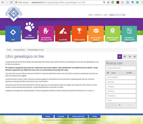 libro genealogico on line