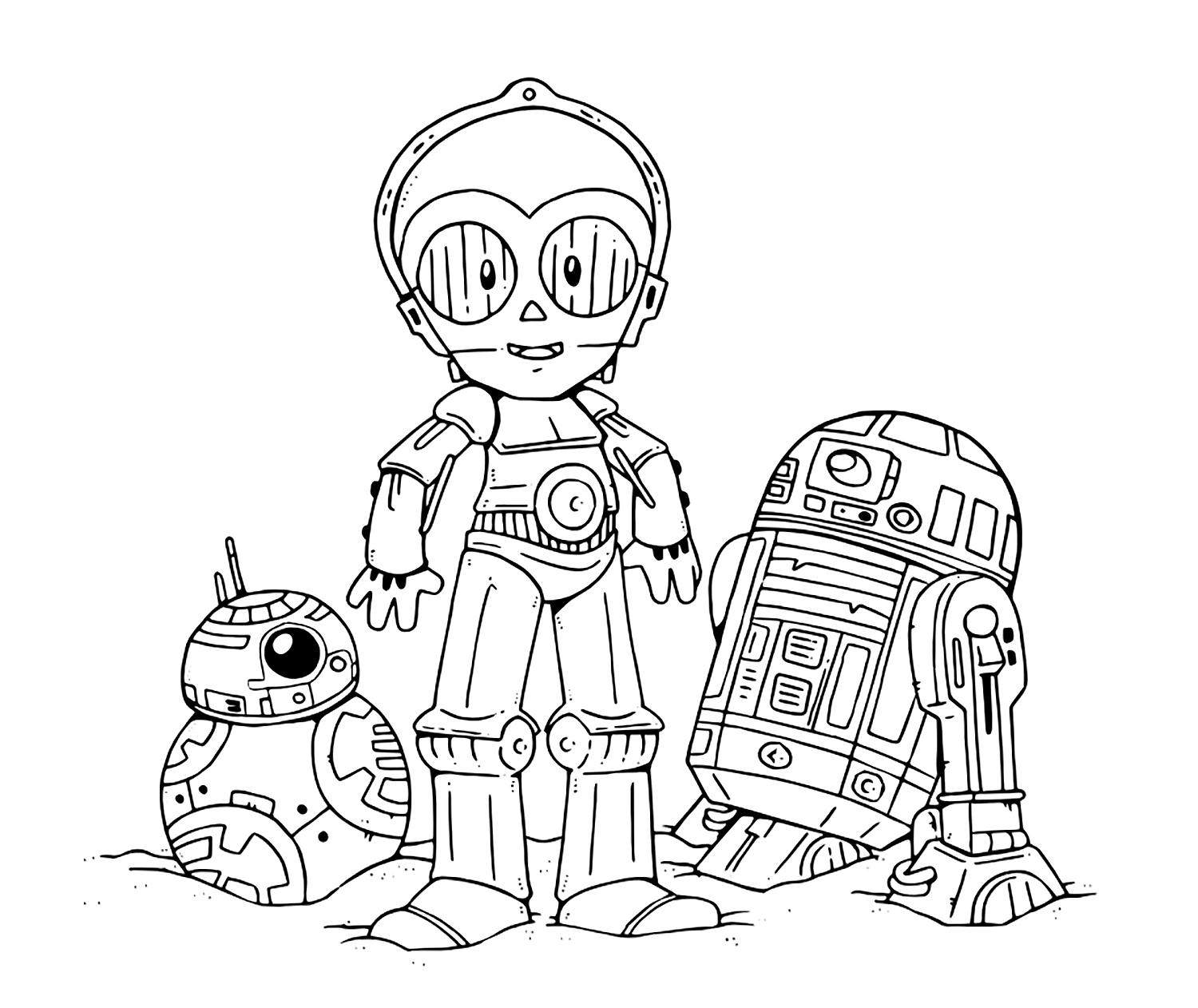 Star Wars The Last Jedi Cute Coloring Pages