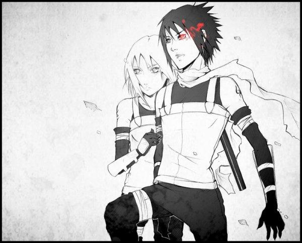 """Саске и Сакура...что-то типа """"Вместе мы сила"""" - Саске и ..."""