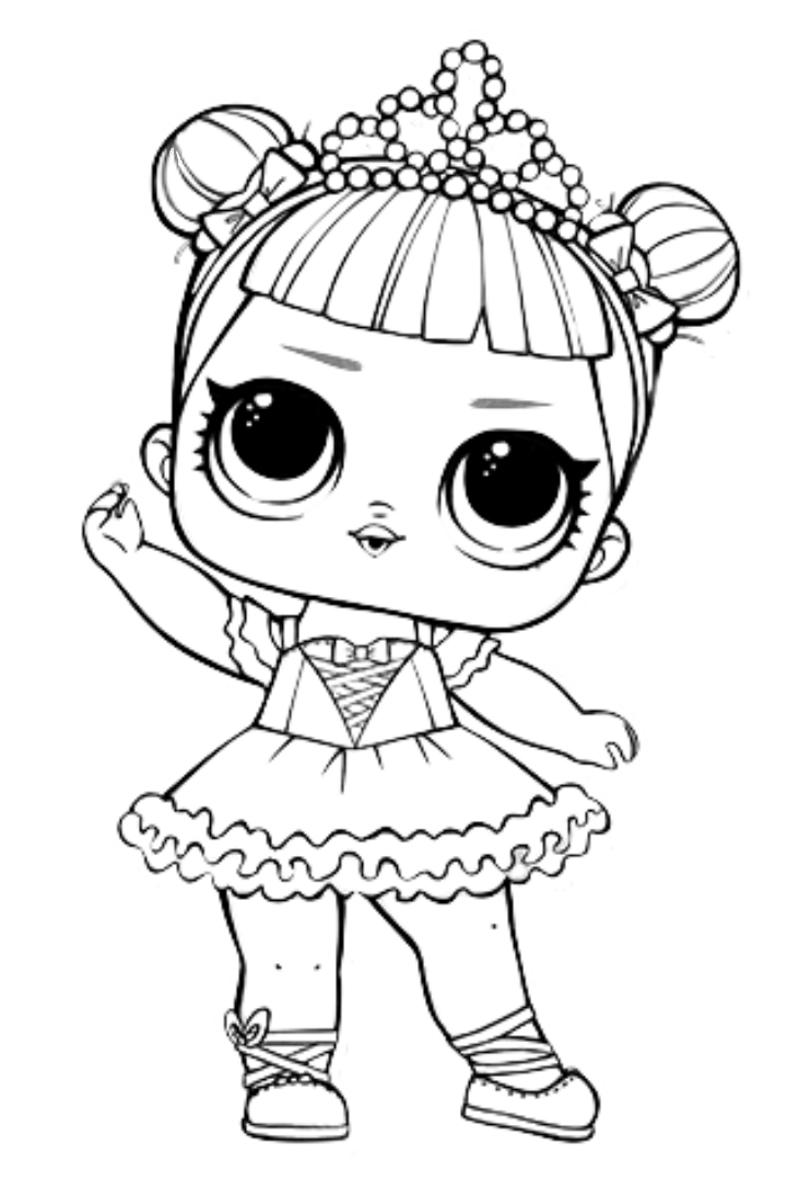 Dawn Lol Doll Coloring Page