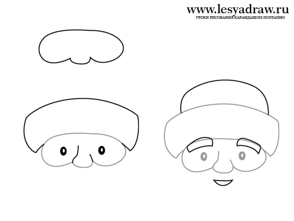 Как нарисовать Деда Мороза - YouLoveIt.ru