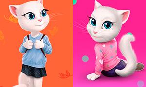 Кошки и нарисованные глаза - YouLoveIt.ru