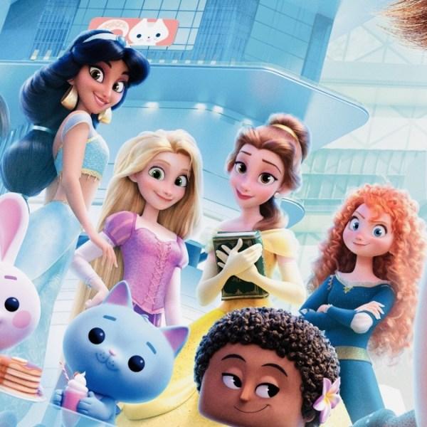 """Увеличенные фото 3D принцесс с постера """"Ральф против ..."""