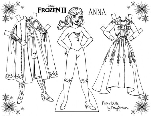 Бумажные куклы раскраски с одеждой - YouLoveIt.ru
