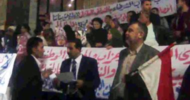 ممرضات الدقهلية يتظاهرن أمام نقابة الصحفيين
