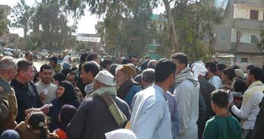 الفلاحون أثناء احتجاجهم