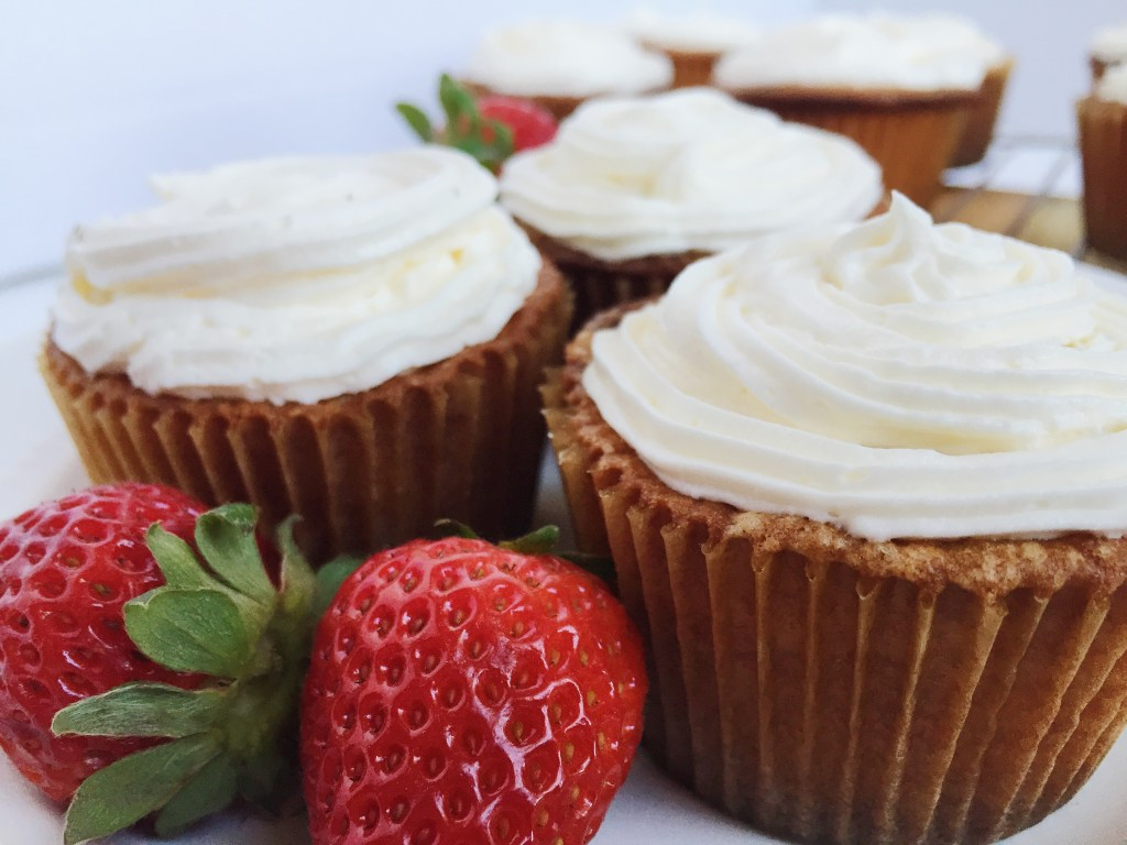 Vanilla Cupcakes with Strawberry Filling Recipe