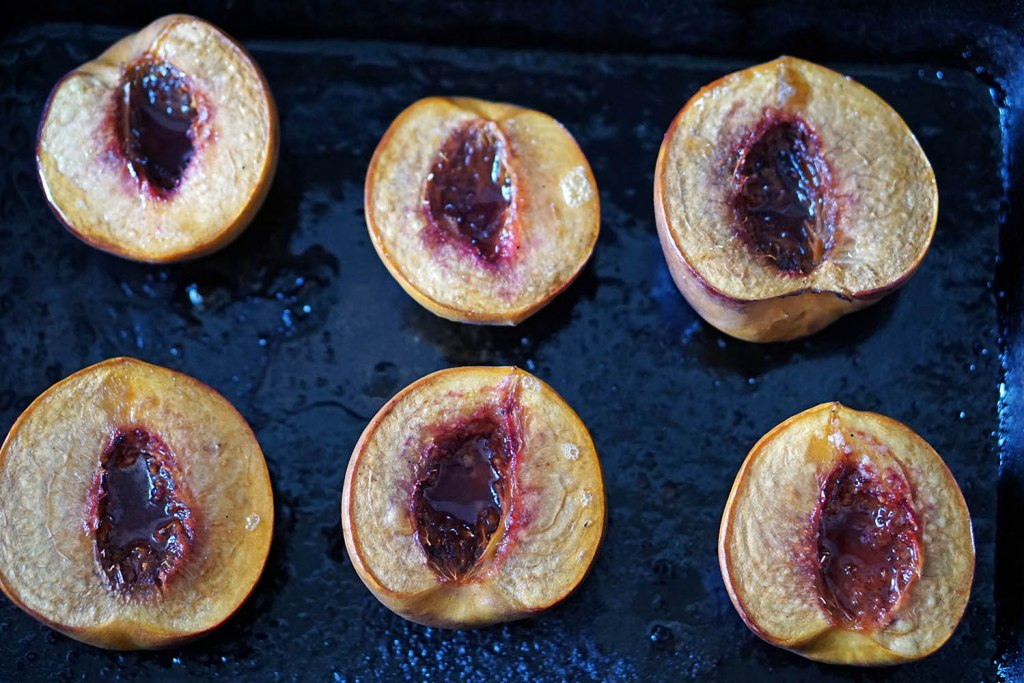 roasted peaches healthy summer dessert