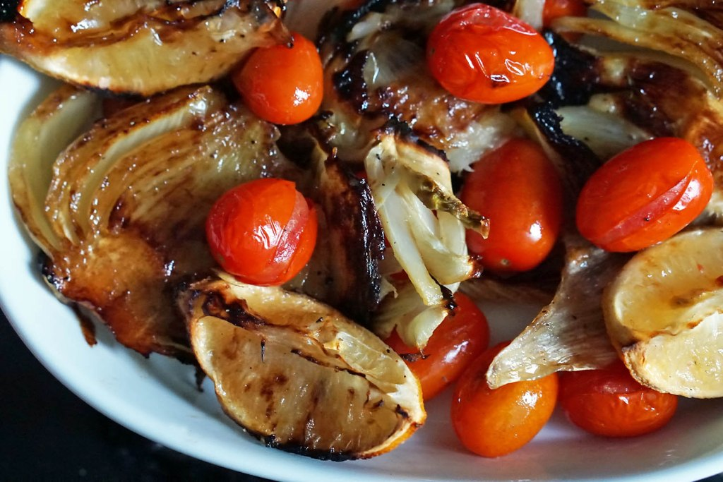 roasted fennel with tomatoes recipe side dish