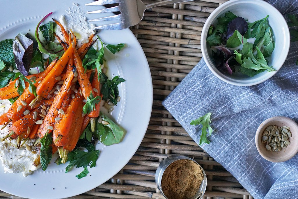 roasted carrots with ricotta and herbs recipe easter spring passover