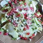 easy thanksgiving side dish shaved brussels sprouts salad with fennel green apple pomegranate seeds healthy