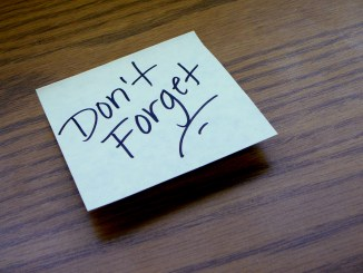don't forget post-it remember better
