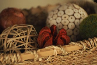 Fall Decor wicker baskets vase fillers