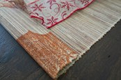 Dining table runner flipped over to use for Christmas