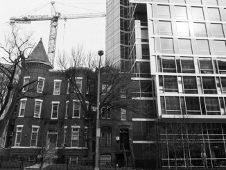 Washington DC construction site tall building old building black and white YOUnfolded blog