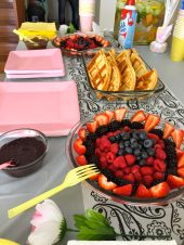 Belgian waffle table set up for party younfolded blog