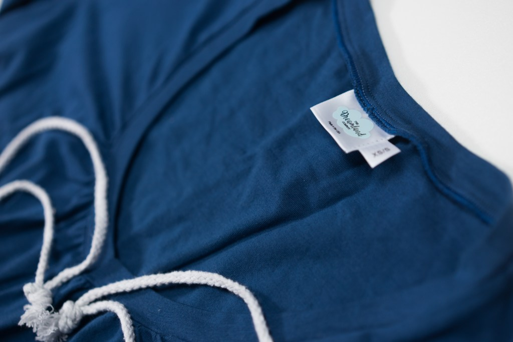 The Dreamshirt Closeup soft cotton and spandex pajama for women younfolded blog review