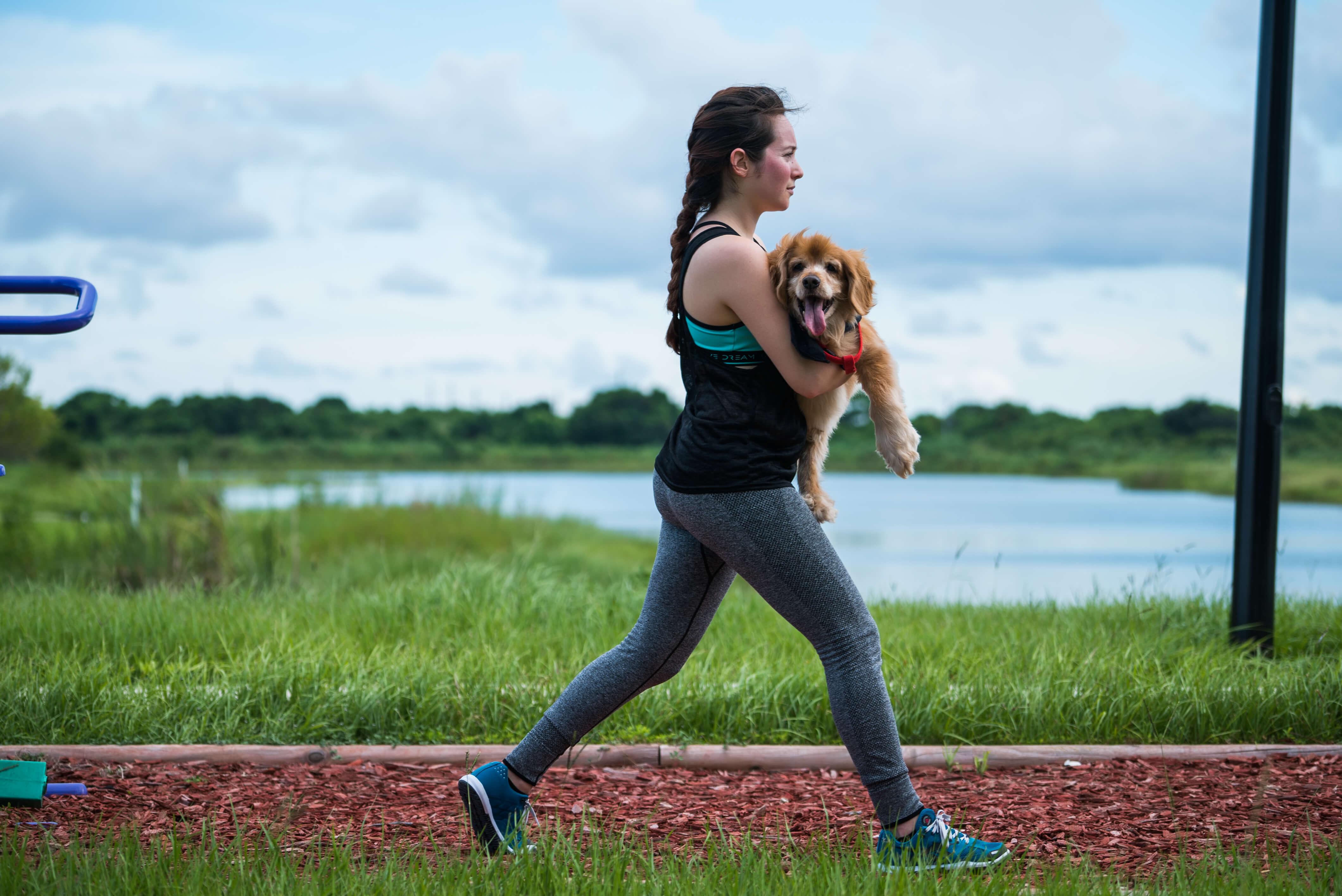lunges with dog exercises workouts pets younfolded blog