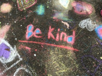 Be kind chalk sidewalk national random acts of kindness day younfolded blog