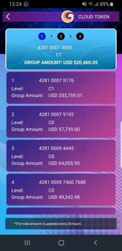 teamvolumen cloud token wallet