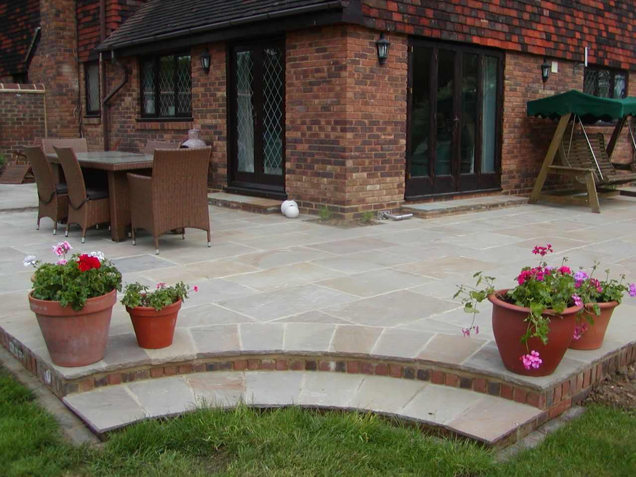 Brickwork Subcontractors - Young and Wright Brickwork ... on Backyard Patio Steps id=27940