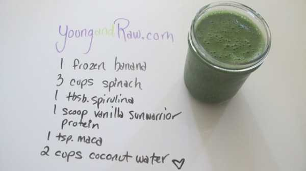 Vanilla Sunwarrior Protein Smoothie - Young and Raw
