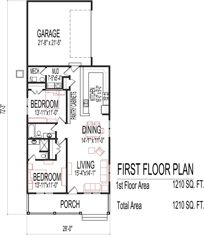 1 Bedroom House Plans With Garage New