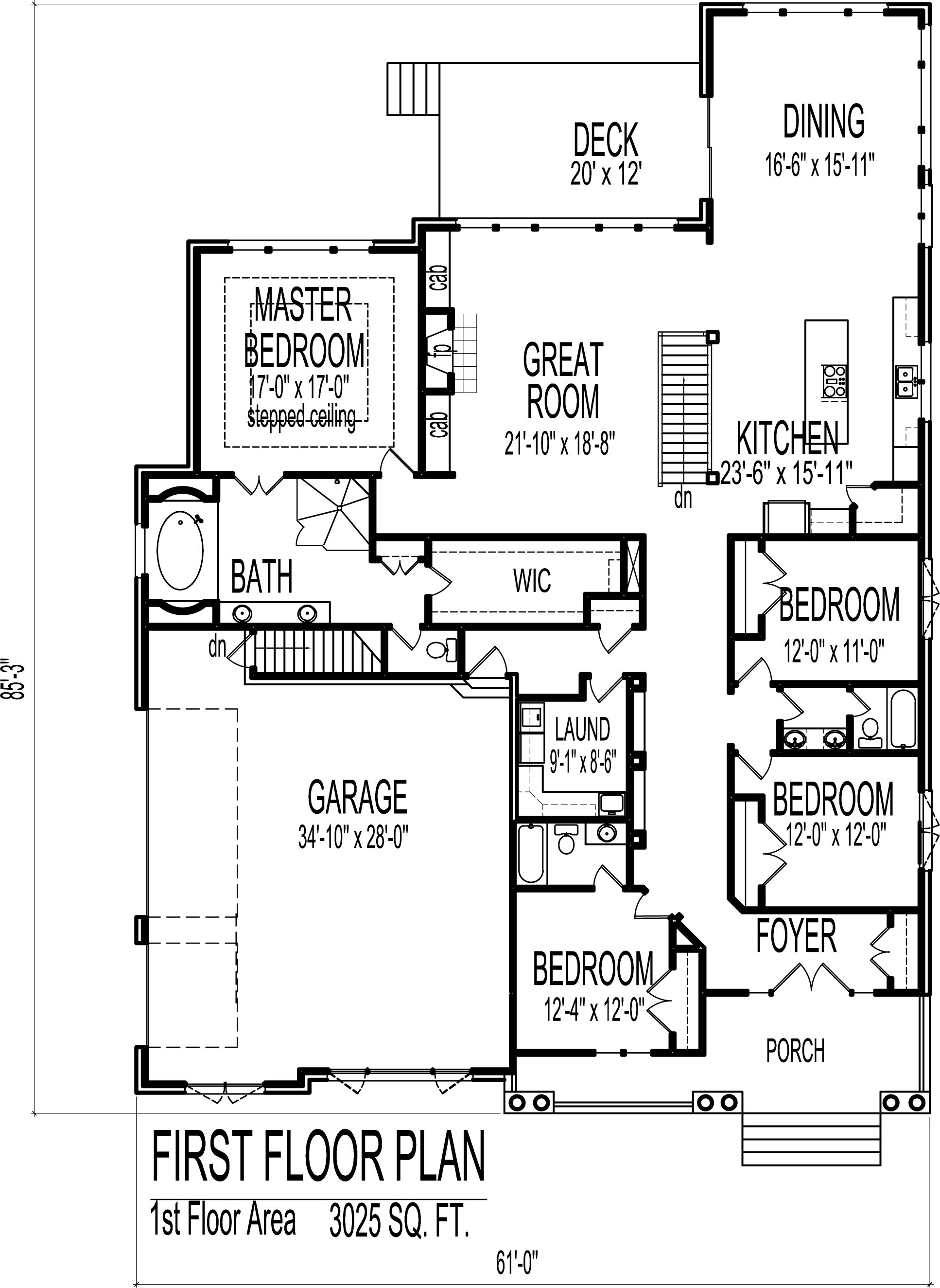 English Cottage House Floor Plans European 4 Bedroom 1