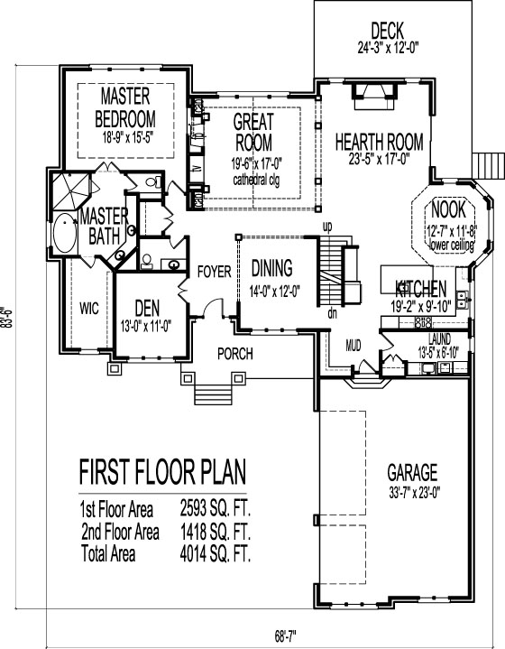 5 Bedroom Bungalow House Plans Drawings 2 Story Home Designs
