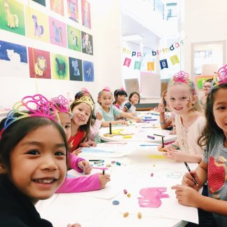young art birthday party