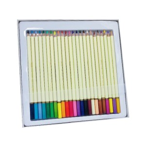 Set of 24 assorted color watercolor pencils