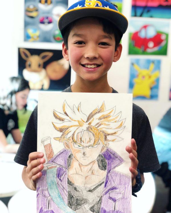 art student holding