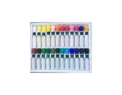set of 24 assorted watercolor paint in box