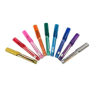 Set of 10 Multicolored Nail Pens example without packaging