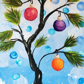 mini Christmas tree composition