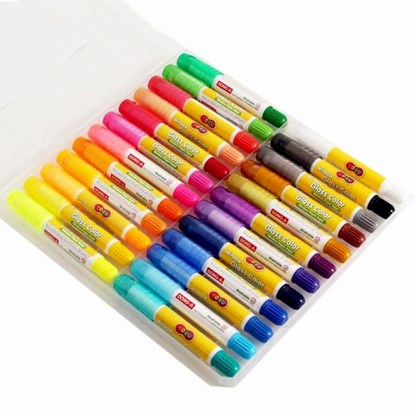 Set of 24 Multicolored Creamy Pastels used for glass
