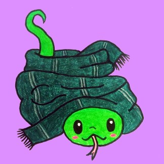 Harry Potter Slytherin cute composition