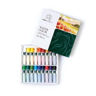 Set of 18 assorted water color paint in box