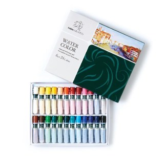 Set of 24 assorted water color paint in box